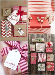 christmas wrapping ideas ~ festive