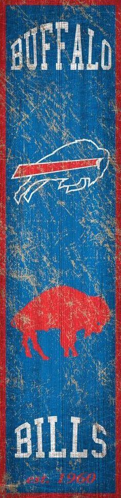 Buffalo Bills Heritage Banner Vertical 6x24 Sign