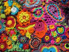 50 years of flower power - a freeform crochet and knit artwork ...