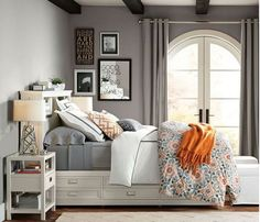 Loads of tips for how to decorate, organize and add style to a small bedroom. Beds with drawers below have come a long way in the last few years. There are many, many styles and price ranges to choose from.