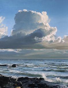 Ron Parker - Windswept Shore - oil on canvas - 36 x 28