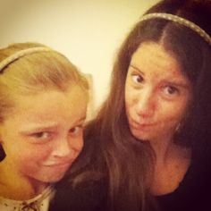 This little girl is the more cutest girl ever. She's like my sister but I'm just her baby sitter and she's so funny! We wear the same headband with some peas because when I'm with her we already do some bullshit together and it's like when I was seven years !  Headband from Martin nd Lili