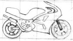 Simple Motorcycle Drawing