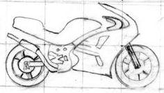 Simple Motorcycle Drawing