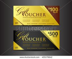 Discount voucher template coupon designticket card designgift gold and black gift voucher template coupon designticketvectorbusiness banner stopboris Choice Image