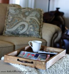Ottoman Trays Home Decor Simple Ottoman Tray Rustic Tray Photo Prop Wood Photography Prop Wood Inspiration
