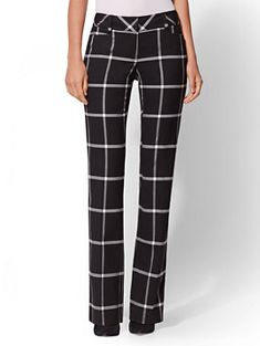 76b5cc472fd Shop 7th Avenue Pant - Check-Print Bootcut - Modern. Find your perfect size