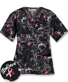 U6PIC UA Women's Pink Courage Print Scrub Top $12.99 http://www.uniformadvantage.com/pages/prod/u6pic-pink-ribbon-top.asp?navbar=4
