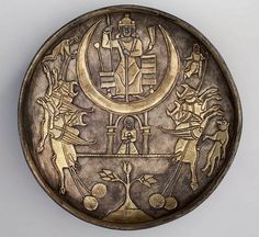 Iran, Sassanid silver gilt plate ca 4th-7th century , Boston museum of art.