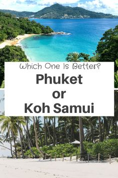Is Phuket Or Koh Samui Better? Phuket or Koh Samui are both islands in #thailand but And they are the 2 biggest islands in Thailand, so which one is better to visit. Let us compare the differences between #phuket and #KohSamui! phuket thailand photography   Koh Samui thailand photography   Koh Samui beaches   Phuket beaches   #traveling #travel #backpacking #backpacker Best Beaches In Phuket, Best Beaches To Visit, Places To Visit, Thailand Vacation, Thailand Travel, Vacation Trips, Thailand Adventure, Koh Samui Thailand, Island Resort