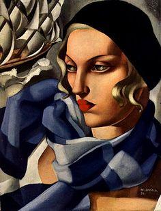 The Blue Scarf Tamara de Lempicka