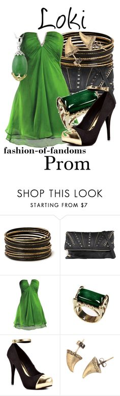 """Loki"" by fofandoms ❤ liked on Polyvore featuring Forever 21, Call it SPRING, FairOnly, Adee Waiss, Michael Antonio, House of Harlow 1960 and Glitzy Rocks"