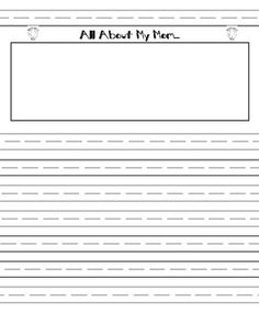 writing templates | why lines for 1st grade and not kindergarten ...