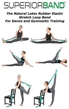 SUPERIORBAND Ballet Stretch Band for Ballet, Dance, Gymnastics & more!