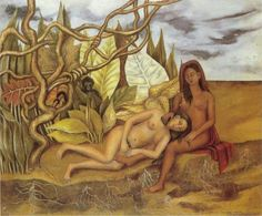 Frida Kahlo Two Nudes in the Forest oil painting for sale; Select your favorite Frida Kahlo Two Nudes in the Forest painting on canvas or frame at discount price. Frida Kahlo House, Diego Rivera Frida Kahlo, Frida And Diego, Georgia O'keeffe, Kahlo Paintings, Frida Art, Queer Art, Plant Painting, Artist Painting