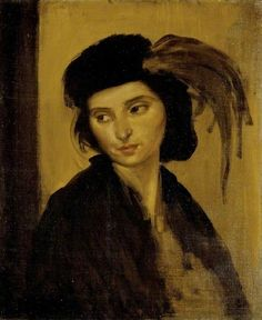 Augustus Edwin John - Dorelia with a Feathered Hat