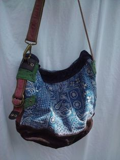 3bab032a0 LUCKY BRAND Runaway Suede Canvas Laptop Hobo Tote Messenger Laptop Bag  School Auction ENDS Today!