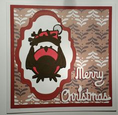 Tonic studios rococo Robin die Tonic Cards, Studio Cards, Rococo, Robin, Card Ideas, Christmas Cards, Studios, Merry, Kids Rugs