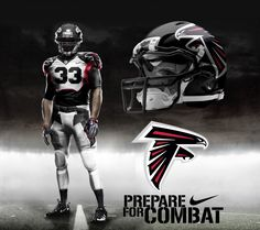 277d6868928 Atlanta Falcons Alternate Home Uniform, Nike Pro Combat Edition. Atlanta  Falcons Alt Home Uni