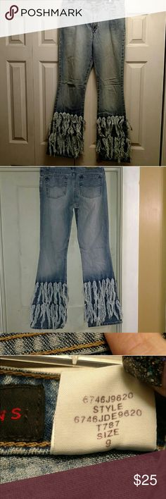 Hippi jeans vintage 9 loved, but the fit too big . Size 9 boot cut to flare fits like 9 .  first pic is just to show vintage appeal! :) Todd Oldham Jeans Boot Cut