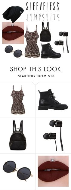 """cute sleeveless jumpsuit outfit"" by polarbear786 on Polyvore featuring LE3NO, Giuseppe Zanotti, STELLA McCARTNEY, Vans and sleevelessjumpsuits"