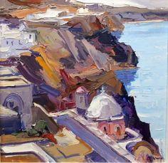 Κολοκυθας βασιλης Greeks, Painters, Landscape Paintings, Artists, Abstract, Summary, Landscape, Landscape Drawings, Artist