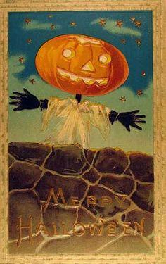 Vintage Halloween Postcard by Suzee Que, via Flickr #Halloween