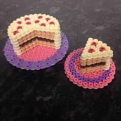 Cake hama beads by Kimberley