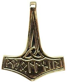 Bronze Thor's Hammer Charm with Triquetra