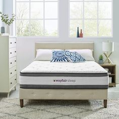 Mattresses You'll Love in 2020 Twin Xl Mattress, Mattress Sets, King Size Mattress, Pillow Top Mattress, Best Mattress, California King Mattress, Adjustable Beds, Panel Bed, Sleep