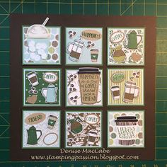 Stamping Passion: Coffee Cafe Frame - Home Decor 3d Frames, Shadow Box Frames, Collage Frames, Paper Frames, Collages, Coffee Cards, Stampinup, Fancy Fold Cards, Craft Show Ideas