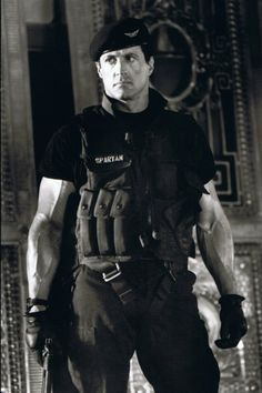Sly in Demolition Man. Great forearms.