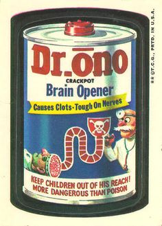 Dr. Ono Wacky Packages 3rd Series 1973 | OldBrochures.com