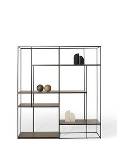 Utmost simplicity and a stunning silhouette characterize the Hill bookcase, whose airy metal shelves seem almost to float in mid-air. Industrial Furniture, Rustic Furniture, Home Furniture, Modern Furniture, Furniture Design, Furniture Removal, Scandinavian Furniture, Furniture Makeover, Antique Furniture