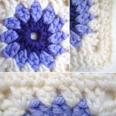 granny square blanket pattern - love the colors with the white