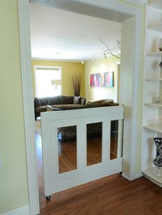 Pocket Door baby/dog gate!
