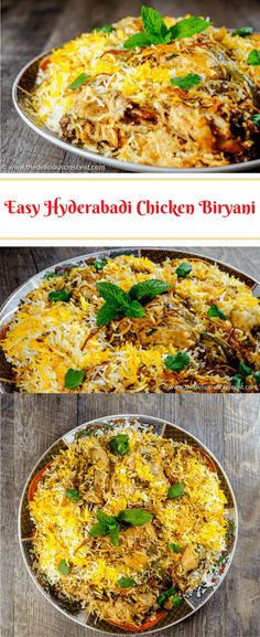 original_title] – The Delicious Crescent Easy Hyderabadi Chicken Biryani Easy Hyderabadi Chicken Biryani, famous authentic mughlai delicacy with succulent chicken in layers of fluffy rice, fragrant spices and caramelized onions. Turkey Recipes, Vegetarian Recipes, Chicken Recipes, Cooking Recipes, Healthy Recipes, Rice Recipes, Recipe Chicken, Meat Recipes, Easy Indian Recipes