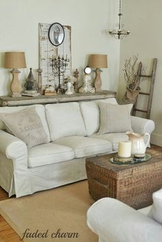 Cozy Cottage Living Room country cottage style living rooms | artist lynn hanson's little