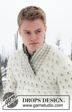 Men - Free knitting patterns and crochet patterns by DROPS Design Jumper Knitting Pattern, Knitting Patterns Free, Free Knitting, Free Pattern, Crochet Patterns, Magazine Drops, Drops Design, Mens Jumpers, Needle And Thread