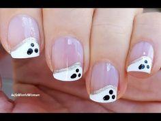 French Manicure Nails, French Manicure Designs, Nail Art Designs, Thanksgiving Nails, Halloween Nail Art, Easy Nail Art, Nail Tutorials, Mani Pedi, Simple Nails