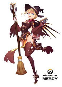 Mercy (Overwatch),Overwatch,Blizzard,Blizzard Entertainment,фэндомы,Witch Mercy,Overwatch art