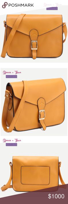 """Faux Leather Flap Strap Buckle Crossbody Bag Vintage style faux leather flap strap buckle cross body bag.  Size: Length: 25cm Width: 7cm Height: 20cm Strap Length: 50-100cm  Submit your offer thru the """"Offer"""" button NO Price discussion in the comment NO Lowballing NO Trades Davin+Theia Bags Crossbody Bags"""