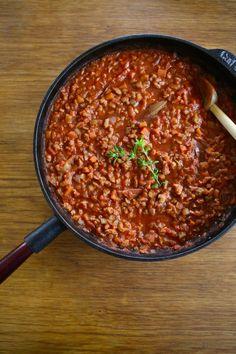 Sauce bolognaise (aux protéines de soja)