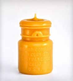 Bean Cake Mason Jar Beeswax Candle