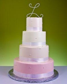Four Color Monogram Cake Monogram Cake, Monogram Wedding, Cake Gallery, Pretty Cakes, Wedding Cakes, Anniversary, Engagement, Bridal, Desserts