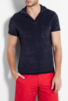 Navy Soft Terry Polo Shirt by Orlebar Brown  #PackforParadise Enter Here: http://budurl.com/PackforParadise