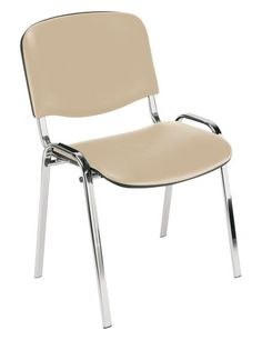 Szék TAASTRUP króm acél bézs üléssel | JYSK