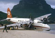 Ansett Flying Boat Services - Short S 25 Sandringham Flying Boat Marooned at Lord Howe Island 1974
