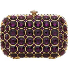 Talullah Tu Talullah Tu Purple Jewel Crystal Clutch Bag (2.010 ARS) ❤ liked on Polyvore featuring bags, handbags, clutches, purses, bolsas, talullah tu, handbags purses, crystal handbag, purple clutches and box clutch