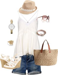 """A Day at the Beach"" by keri-cruz on Polyvore"